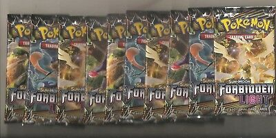 Pokemon Sun & Moon Forbidden Light Booster Pack Lot (10) SEALED UNSEARCHED