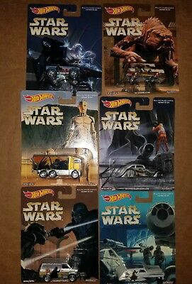 STAR WARS - Set of 6 - Hot Wheels Pop Culture REAL RIDERS Hauler BRONCO A100