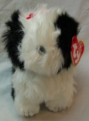 ca7558282a7 TY Beanie Babies CUTE POOFIE BLACK   WHITE DOG 6