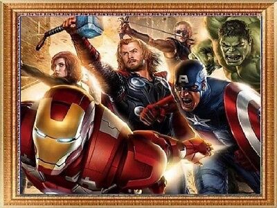 AU The Avengers Full Drill 5D Diamond Painting Embroidery Cross Stitch Kit HE