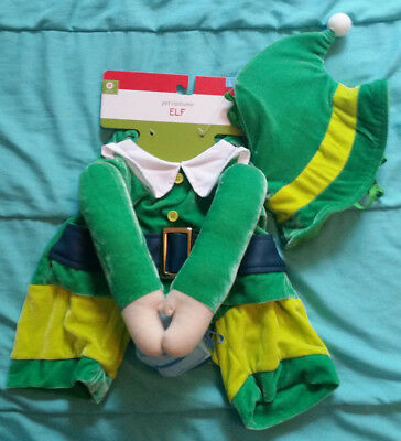 ELF Dog Costume - New w/Tags - Size L - Hilarious Christmas Outfit! Suit & Hat
