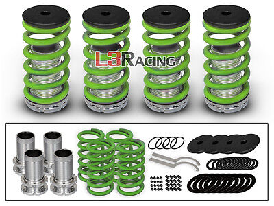 90-97 Honda Accord COILOVER LOWERING COIL SPRINGS KIT GREEN