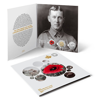 **2015 Canadian Remembrance 3 coin set**