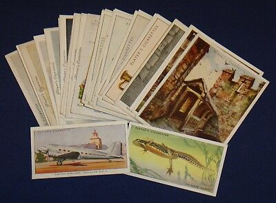 John Player Cigarette Cards – Part Sets / 28 Cards – Loose All Listed Sleeves