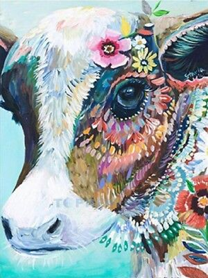 AU Cow Full Drill 5D DIY Diamond Painting Embroidery Cross Crafts Stitch Kit HE