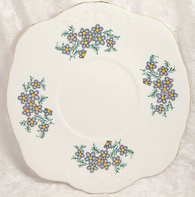 Royal Sutherland bone china floral cake sandwich plate 9 inches across
