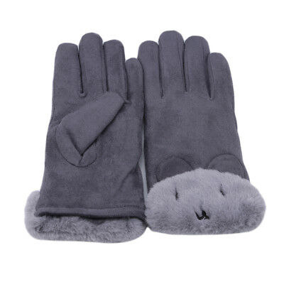Cute Bear Design Womens Thermal Lined Elegant Gloves Keep Warm Outdoor Glove BS