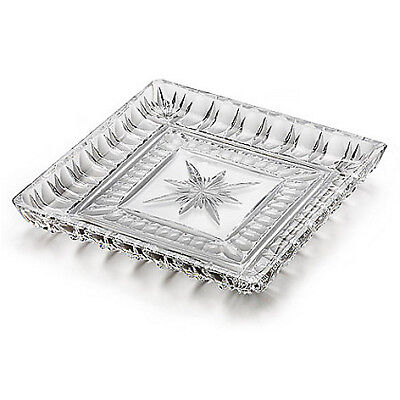 """Waterford Crystal O'Connell 10"""" Star Cut Square Tray"""