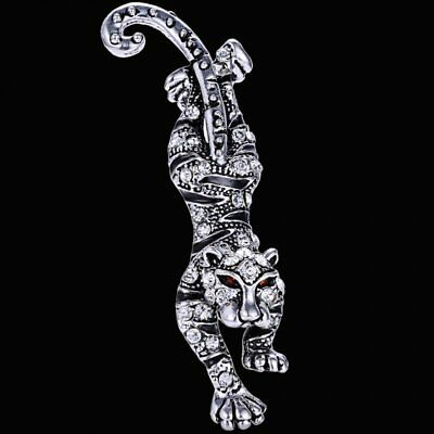 New Animal Cool Tiger Crystal Brooch Pin Breastpin Womens Party Costume Jewelry