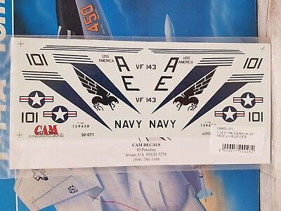 "1/32 CAM Decals 32-071 ""Tomcat Alley"" F-14A VF-143 Pukin' Dogs, USS America 1978"