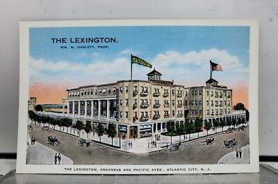 New Jersey NJ Atlantic City Lexington Hotel Arkansas Pacific Ave Postcard Old PC
