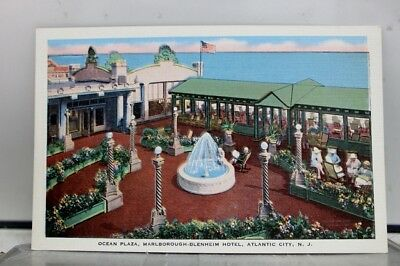 New Jersey NJ Atlantic City Marlborough Blenheim Hotel Ocean Plaza Postcard Old