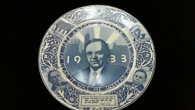 1933 Memorial Collectible Plate Chicago Mayor Cermak Roosevelt Assassination Try