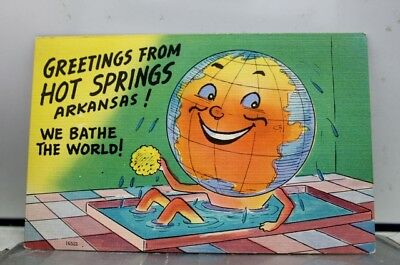 Arkansas AR Hot Springs Greetings We Bathe the World Postcard Old Vintage Card