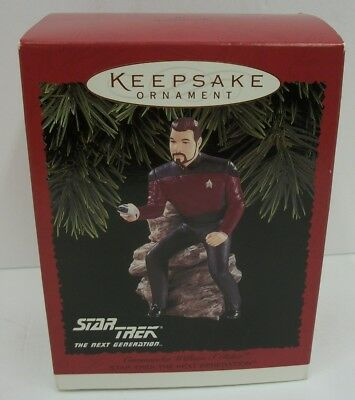 Hallmark Keepsake Christmas Ornament Star Trek Commander William Riker MIB