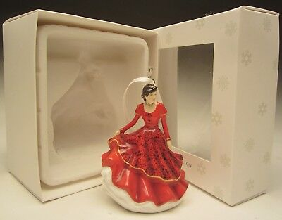 Royal Doulton Joy to the World H5865 Christmas Lady Figurine Ornament NIB 2017