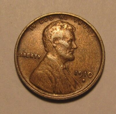 1910 S Lincoln Cent Penny - Extra Fine Condition - 84SA