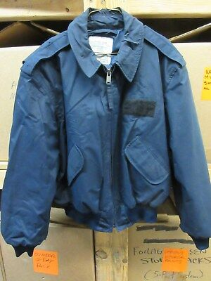 Usaf Security Police Winter Flight Jacket Blue Us Air Force X-Large Military Mp