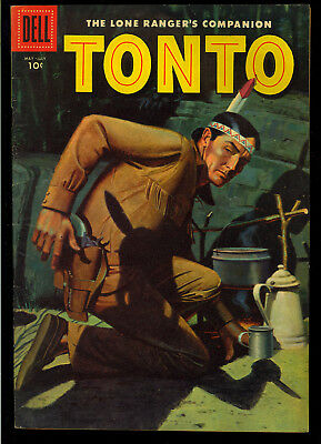 Lone Ranger's Tonto #23 Nice Golden Age Dell Western Comic 1956 VG-FN