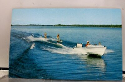 Scenic Water Skiing Fun Sport Postcard Old Vintage Card View Standard Souvenir