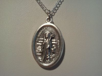 ~Saint Bridget Medallion~Comes With Free Silver Plate Chain~New~Catholic~