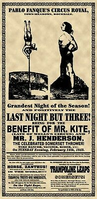 """Beatles, """"Benefit Of Mr Kite"""" Sgt Pepper's Circus Poster"""