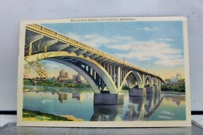 Arkansas AR Little Rock Broadway Bridge Postcard Old Vintage Card View Standard