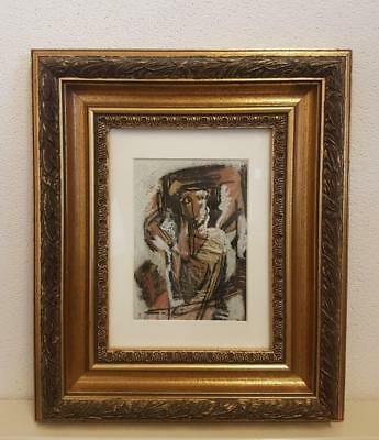 Painting abstract Antique Painting Print Signed With Recognized Auction Report