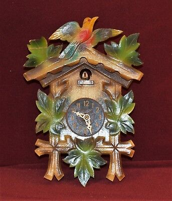 Cukoo Clock Germany Bird Top No weights see pics Black Forest Erich Kafer