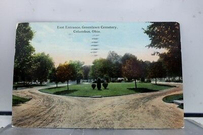 Ohio OH Columbus Greenlawn Cemetery East Entrance Postcard Old Vintage Card View
