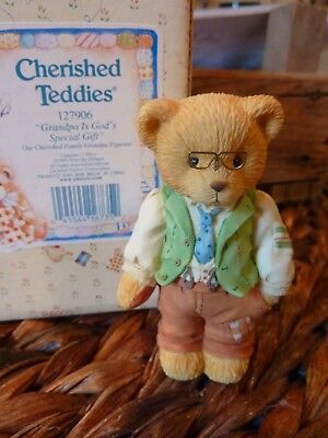 CHERISHED TEDDIES Grandpa is God's Special Gift~ 127906~1997~NEW IN BOX