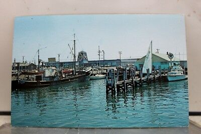Rhode Island RI Narragansett Galilee Fishing Village Postcard Old Vintage Card