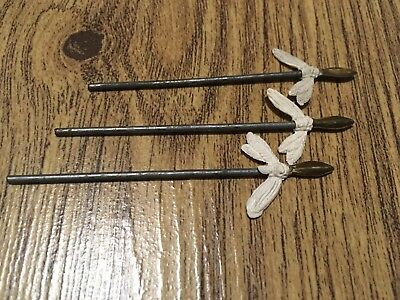 3 Britains Deetail Indians Spears.