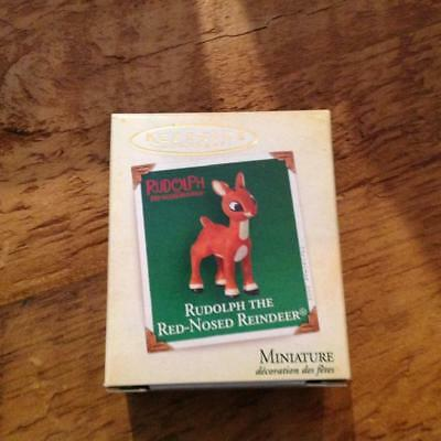 Hallmark Keepsake Ornament Miniature Rudolph the Red Nosed Reindeer 1992 NIB