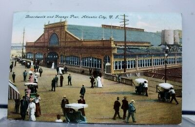 New Jersey NJ Boardwalk Atlantic City Postcard Old Vintage Card View Standard PC