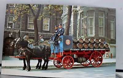 Scenic Pabst Beer Wagon Postcard Old Vintage Card View Standard Souvenir Postal