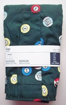 GAP Men's Boxers 100% Cotton Underwear Pool Ball Print NWT