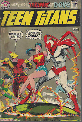 Teen Titans #21 GD+  Silver Age  June 1969  Neal Adams Art Hawk & Dove Last 12c