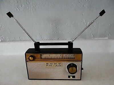 1959 Sony Early AM/FM 12 Transistor Radio TFM-121 works very well & serviced
