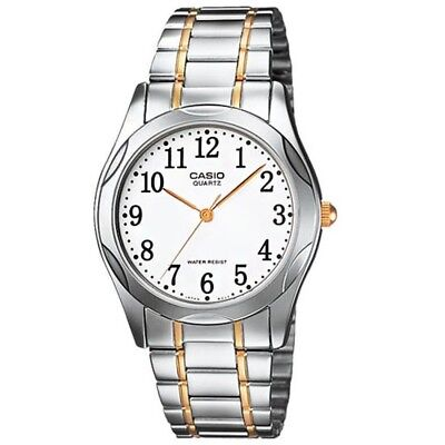 Casio MTP1275SG-7B Mens Stainless Steel Analog Dress Watch White Dial - Two Tone