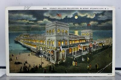 New Jersey NJ Youngs Pier Atlantic City Postcard Old Vintage Card View Standard