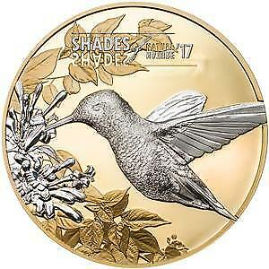 Cook Islands 2017 $5 Shades of Nature Hummingbird 25 g Silver Coin