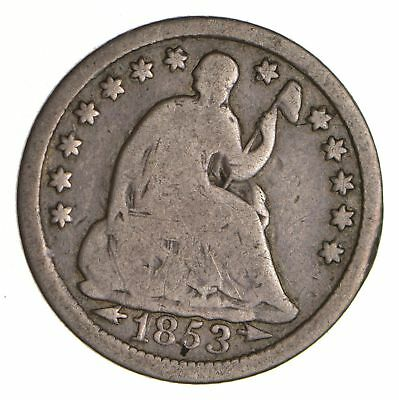 5c ***1/2 Dime** - 1853 Seated Liberty Half Dime - Early American Type Coin *952