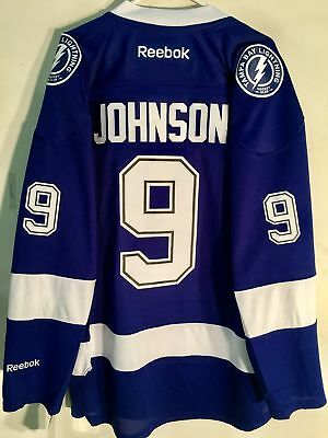 Reebok Premier NHL Jersey Tampa Bay Lightning Tyler Johnson Blue sz M
