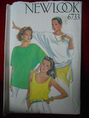 New Look Batwing Top Tee Shirt & Tank Top Pattern 6733 Size 8 10 12 14 16 18