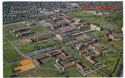 RICE UNIVERSITY Houston TEXAS - 1962 POSTCARD College Campus AERIAL VIEW