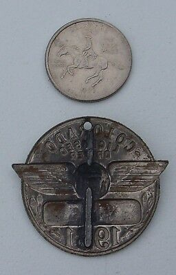 Colorado 1931 Licensed driver chauffeur badge #  964