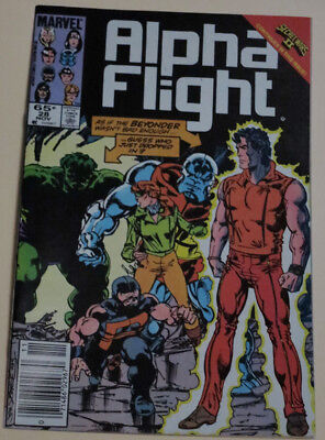 Alpha Flight #28 (Nov., 1985, Marvel) in very good condition.