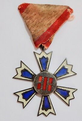 Scarce! JAPANESE-OCCUPIED KOREA 1910-45 ORDER of EIGHT TRIGRAMS 6th CLASS MEDAL