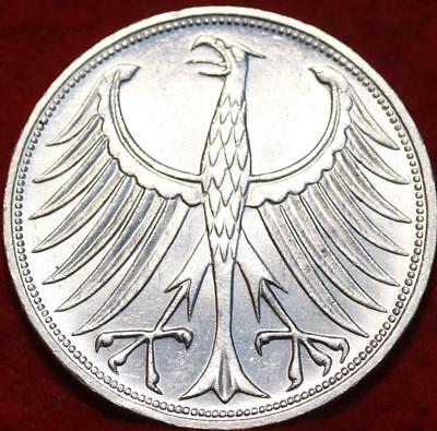 Uncirculated 1967G Germany 5 Mark Silver Foreign Coin